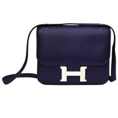 Hermès Constance Dark Anemone Bag