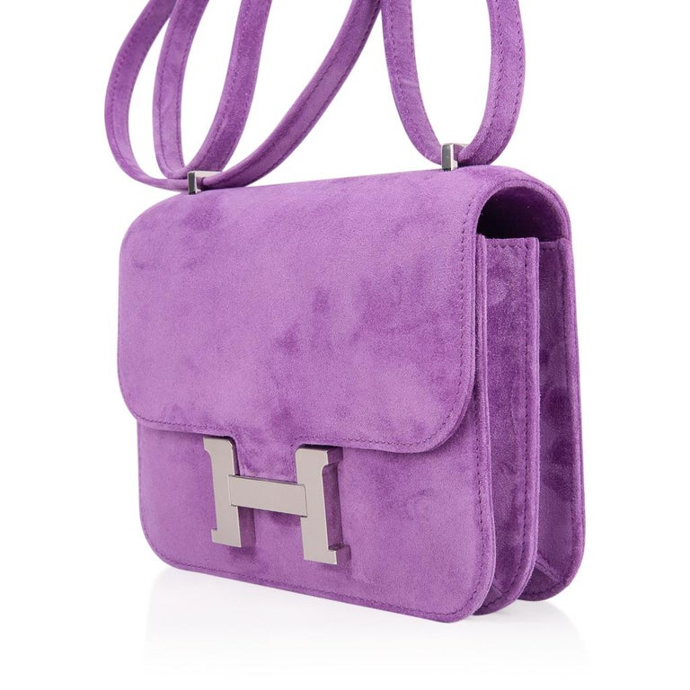 Hermes Constance Doblis Violet Clair 18 Limited Edition Bag Palladium In New Condition For Sale In Miami, FL
