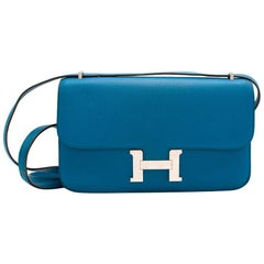 Hermes Constance Elan 25 Blue [O] 11