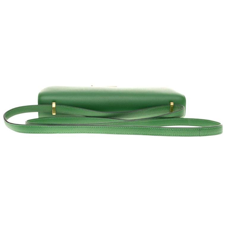 Hermès Constance Elan epsom green bengale handbag, gold hardware still sealed For Sale 6