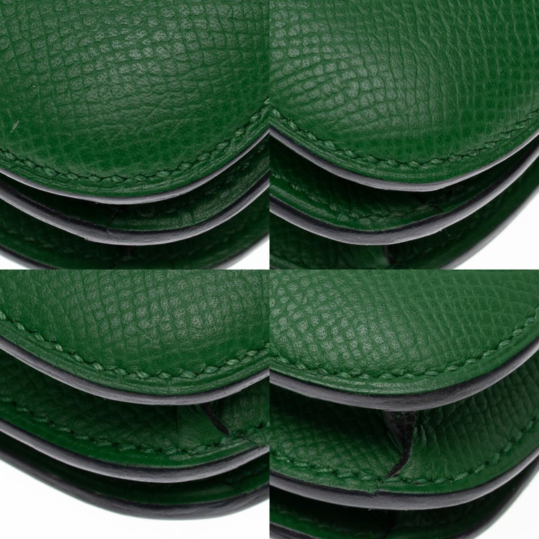 Hermès Constance Elan epsom green bengale handbag, gold hardware still sealed For Sale 8