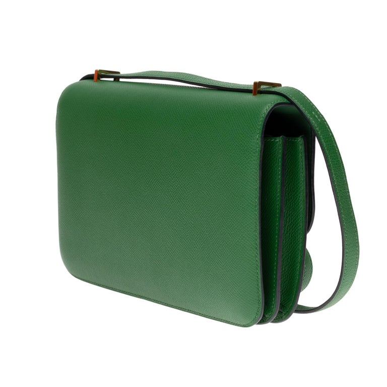 Hermès Constance Elan epsom green bengale handbag, gold hardware still sealed For Sale 1