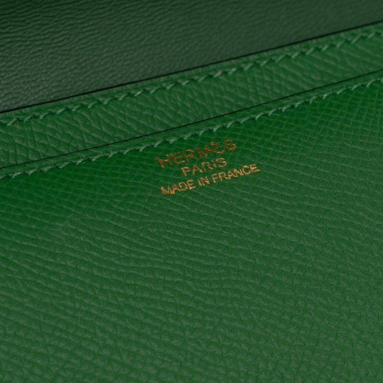 Hermès Constance Elan epsom green bengale handbag, gold hardware still sealed For Sale 2