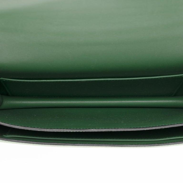 Hermès Constance Elan epsom green bengale handbag, gold hardware still sealed For Sale 5