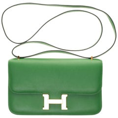 Hermès Constance Elan epsom green bengale handbag, gold hardware still sealed