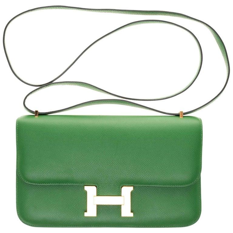 Hermès Constance Elan epsom green bengale handbag, gold hardware still sealed For Sale