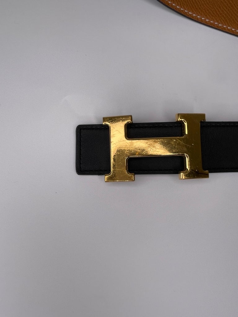 Hermes Constance H Belt Black 2015 (Size 85/34) In Good Condition For Sale In Montreal, Quebec