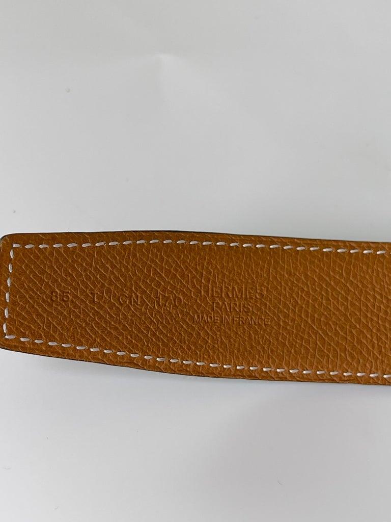 Men's Hermes Constance H Belt Black 2015 (Size 85/34) For Sale