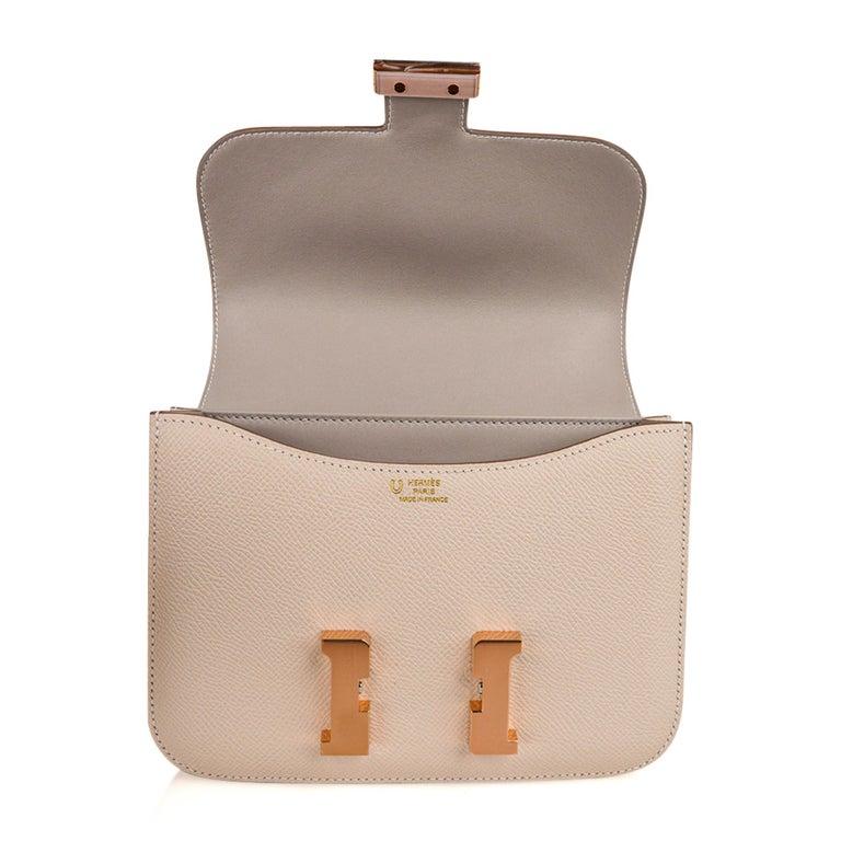 Hermes Constance HSS 18 Bag Craie / Gris Perle Rose Gold Hardware  4