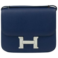Hermès, Constance in blue leather