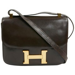 Hermes Constance In Brown Leather