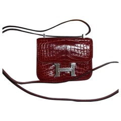 Hermès Constance Micro Rouge H Alligator Bag