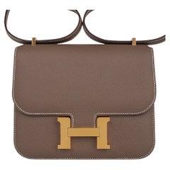 Hermes Constance Mini 18 Bag Etoupe Gold Hardware Epsom Leather