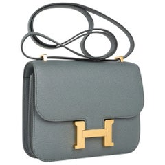 Hermes Constance Mini 18 Bag Vert Amande Gold Hardware Epsom Leather