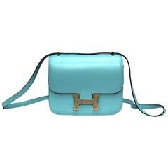 Hermès Constance Mini Blu du Nord