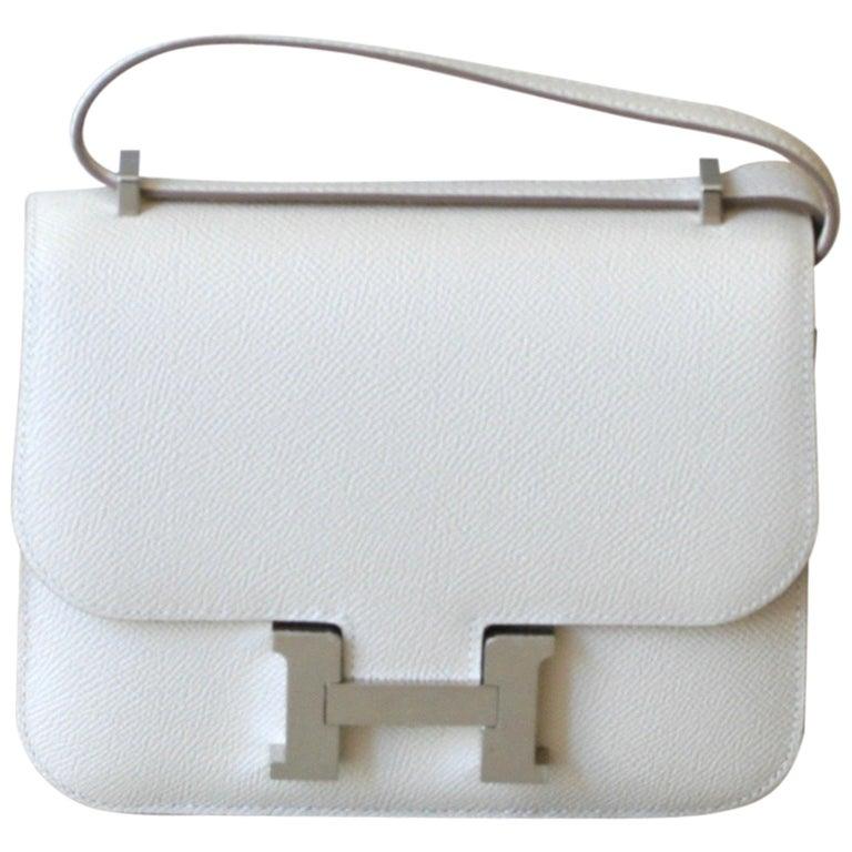 HERMES Constance Mini Epsom Craie 18' For Sale