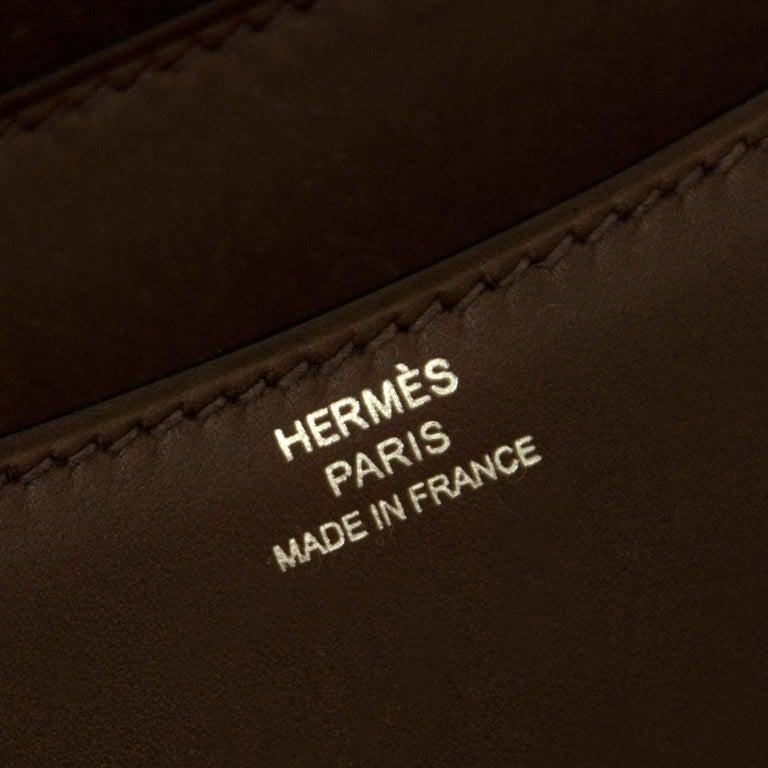Black Hermès Constance Mini veau Butler Moka For Sale