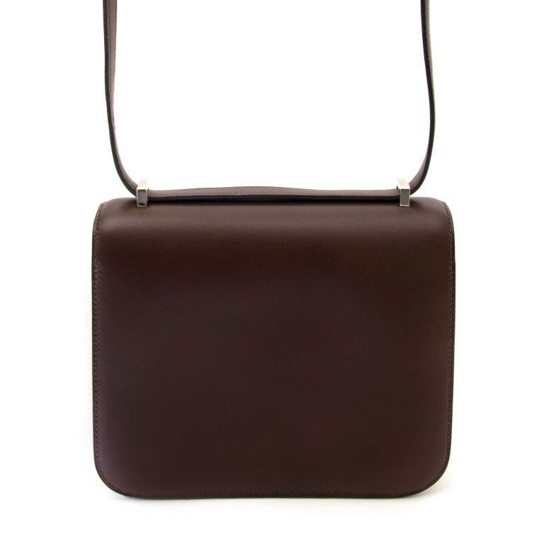 Hermès Constance Mini veau Butler Moka In New Condition For Sale In Antwerp, BE