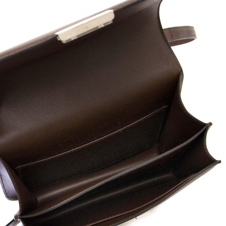 Hermès Constance Mini veau Butler Moka For Sale 1