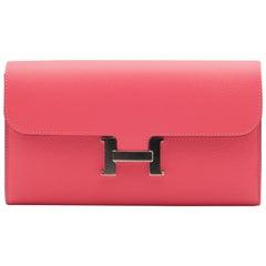 Hermès Constance Wallet Azalee Epsom Leather Palladium Hardware