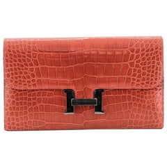 Hermes Constance Wallet Shiny Alligator Long
