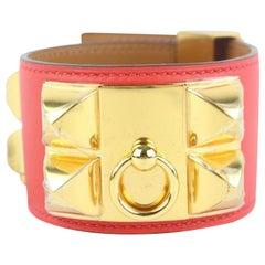 Hermès Coral Cdc Collier De Chien Cuff 37hz1009 Bracelet