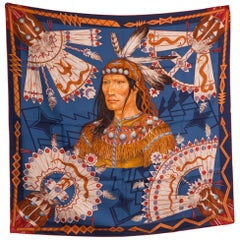 Hermes Cosmogonie Apache by A Tzapoff Silk Scarf