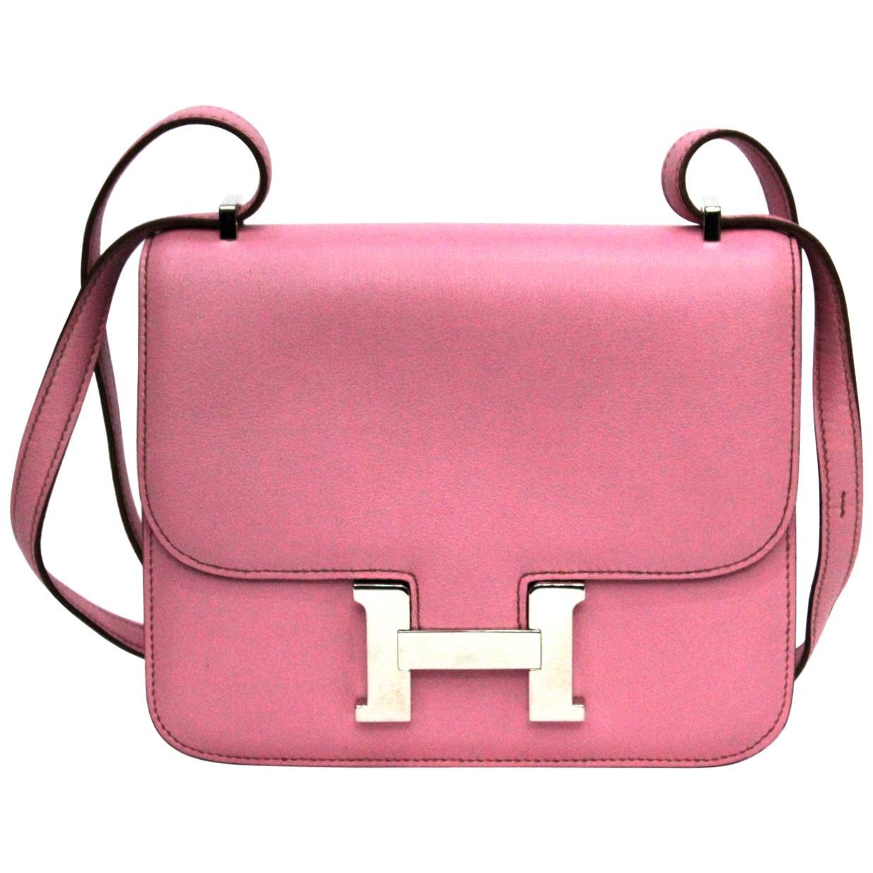 Hermès Costance Mini Swift Pink Leather