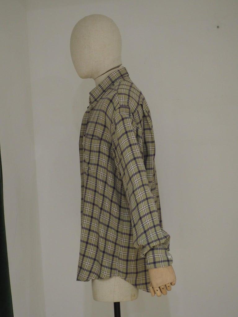 Hermes cotton shirt 100% cotton men shirt  size 43 / 17
