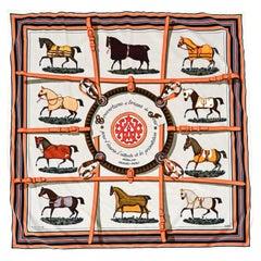 Hermès Couvertures et Tunues de Jour Velvet Trompe L'Oeil Throw Blanket, France