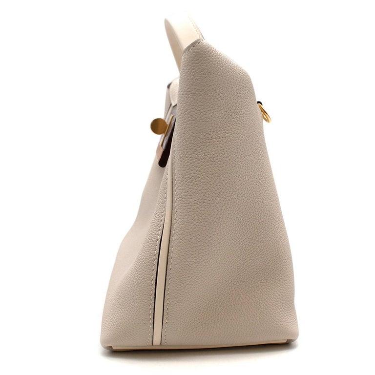 Women's or Men's Hermes Craie Nata Flap Bordeaux Croc 24/24 29 Bag GHW For Sale
