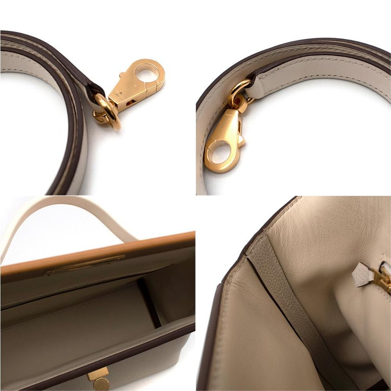 Hermes Craie Nata Flap Bordeaux Croc 24/24 29 Bag GHW For Sale 4
