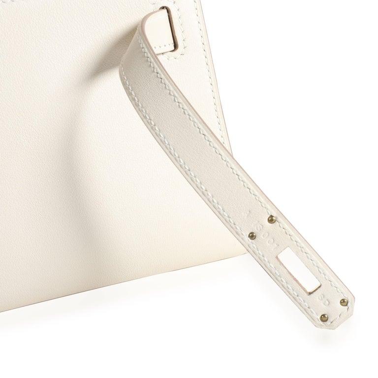 Hermès Craie Swift Leather Kelly Cut GHW For Sale 2