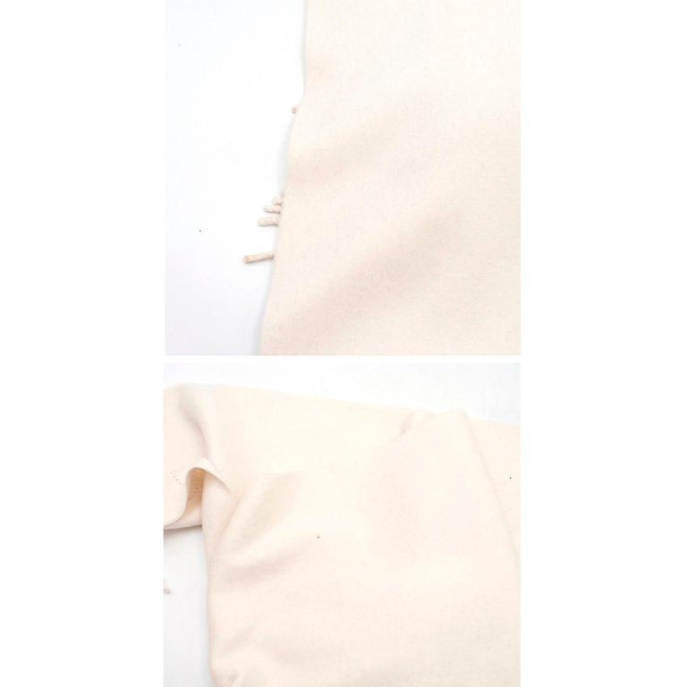 Hermes Cream Cashmere Scarf For Sale 5