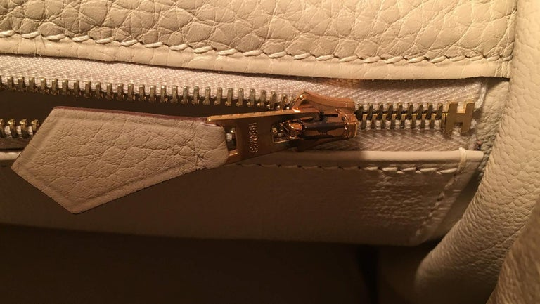 Hermes Parchemin Taurillon Clemence Leather Kelly 35 GHW For Sale 5