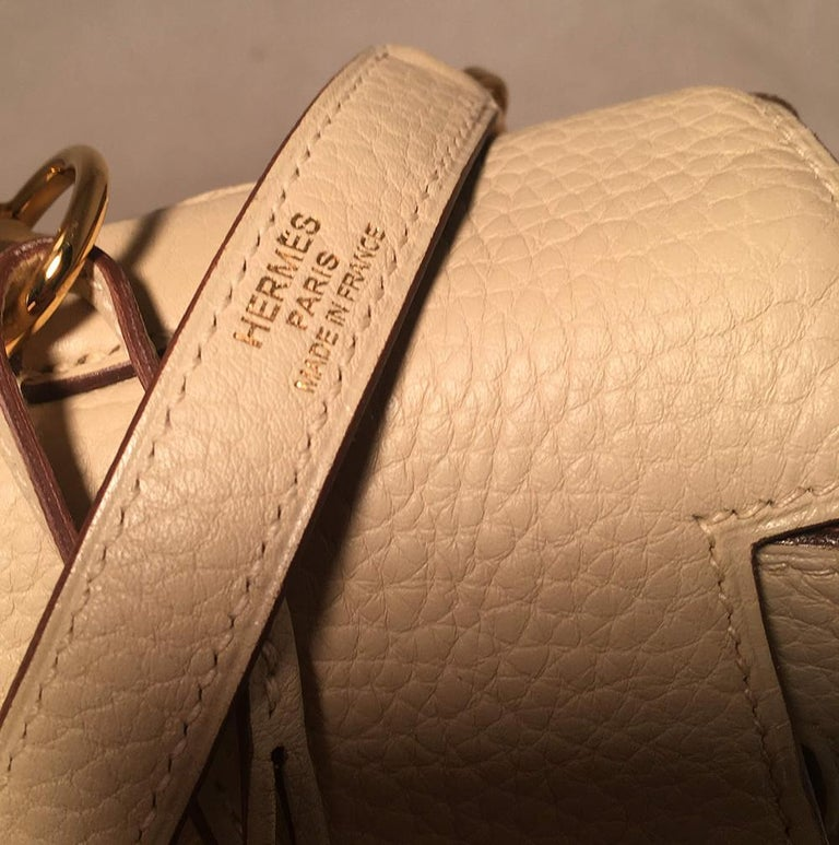 Hermes Parchemin Taurillon Clemence Leather Kelly 35 GHW For Sale 6