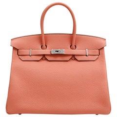 Hermès Crevette Togo 35 cm Birkin Bag