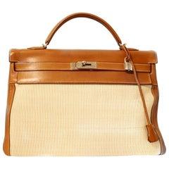 Hermès Crinoline and Barenia Leather 40 cm Kelly
