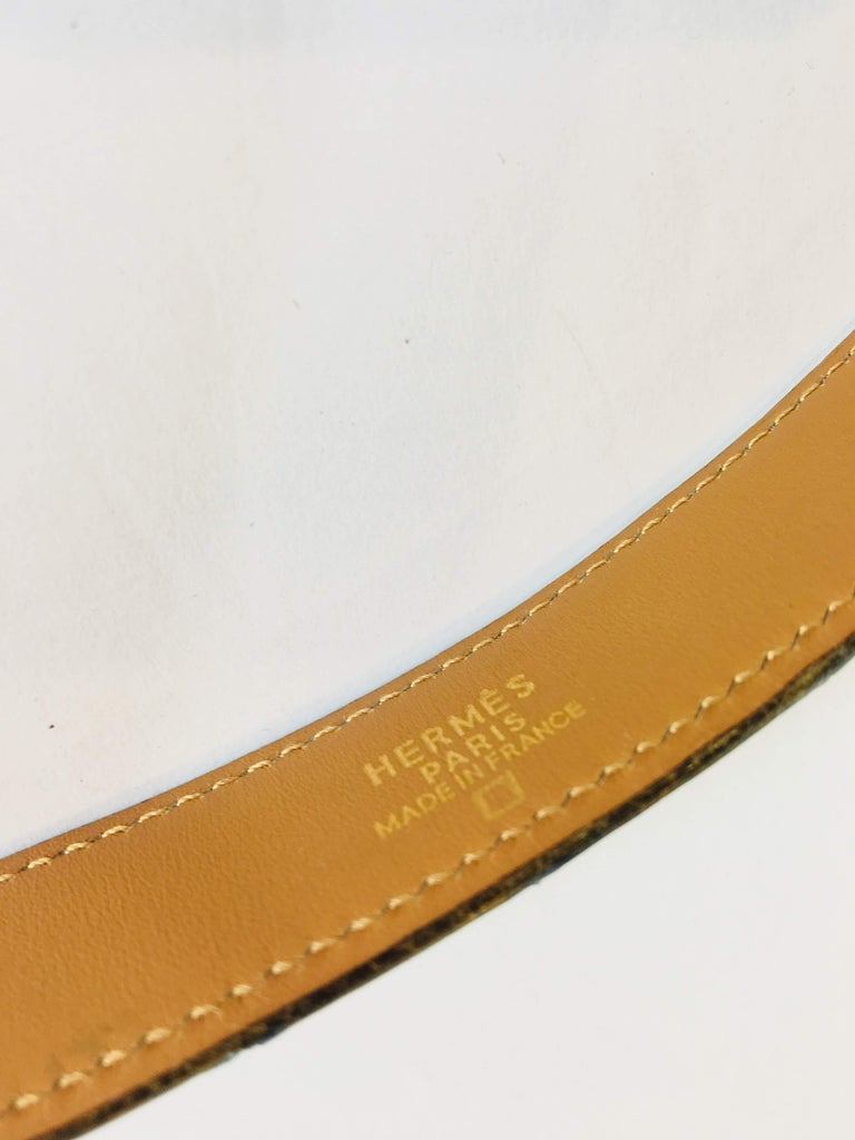 Hermes Crocodile Belt  In Good Condition For Sale In Southampton, NY