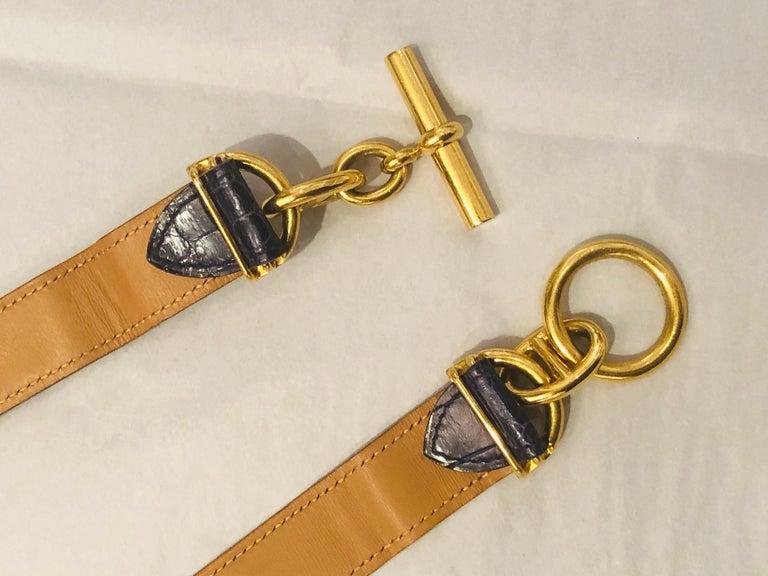 Hermes Crocodile Belt  For Sale 2