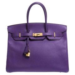 Hermes Crocus Epsom Leather Gold Hardware Birkin 35 Bag