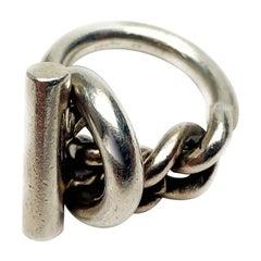HERMES Croisette ring Silver 925