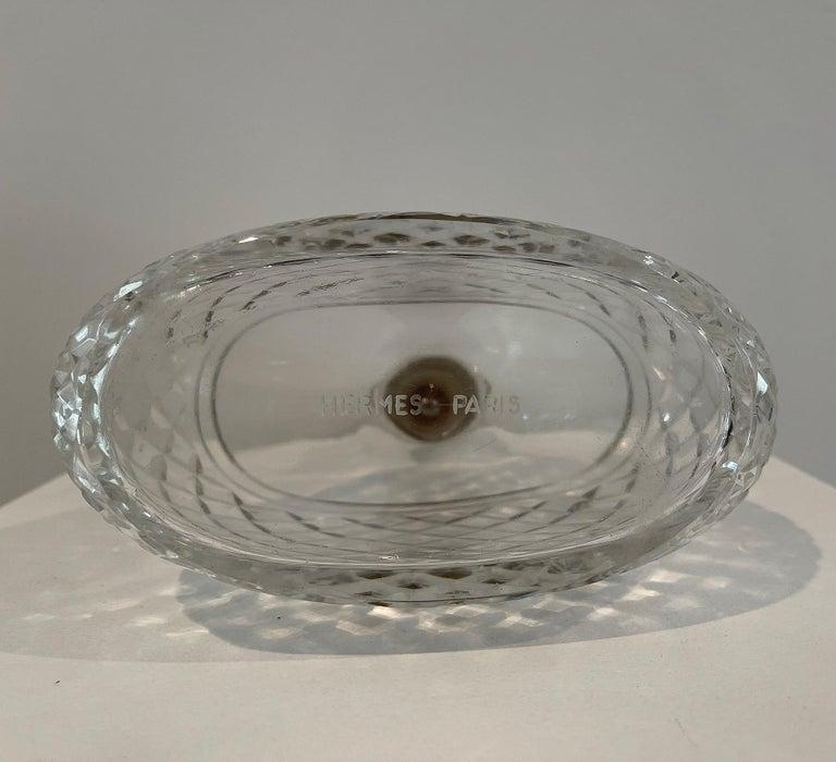 Hermes Crystal & Silver Carafe - Decanter For Sale 2