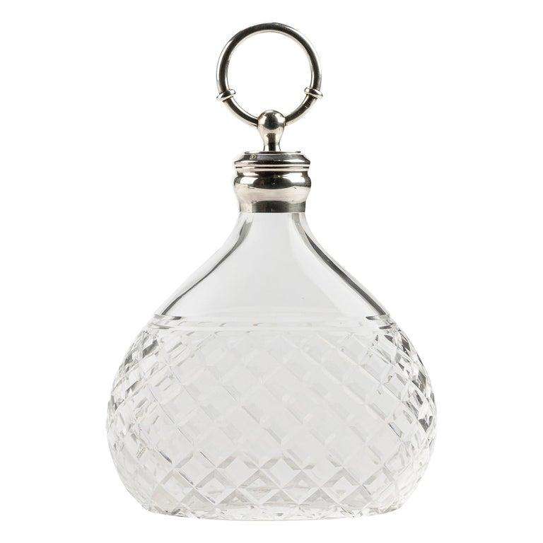 Hermes Crystal & Silver Carafe - Decanter For Sale