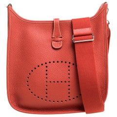 Hermes Cuivre Togo Leather Evelyne III PM Bag