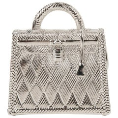 Hermes Curiosite Kelly Charm Palladium Pendant / Bag Charm