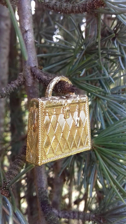 Hermès Curiosity Kelly Bag Pendant Charm Permabrass Metal  5