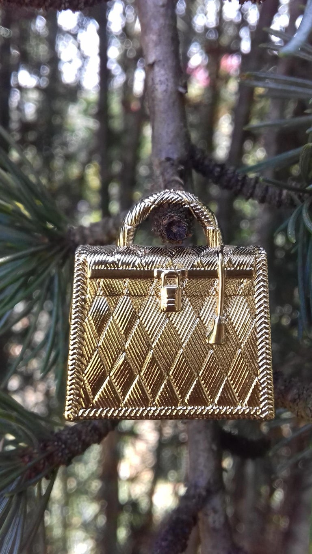 Hermès Curiosity Kelly Bag Pendant Charm Permabrass Metal  6