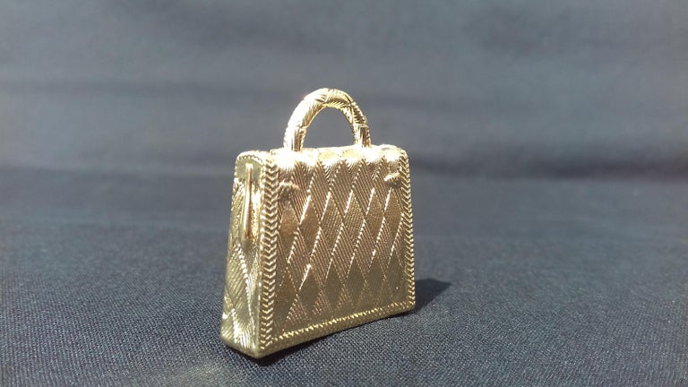 Hermès Curiosity Kelly Bag Pendant Charm Permabrass Metal  For Sale 2