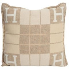 Hermes Cushion Avalon III PM H Coco and Camomille Throw Pillow New